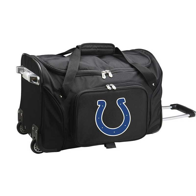 NFICL401: NFL Indianapolis Colts 22IN WHLD Duffel Nylon Bag