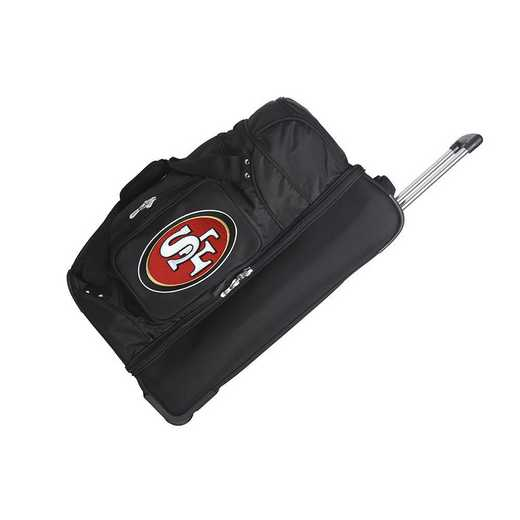 NFSFL300: NFL San Francisco 49ers 27IN WHLD Duffel Nylon bag