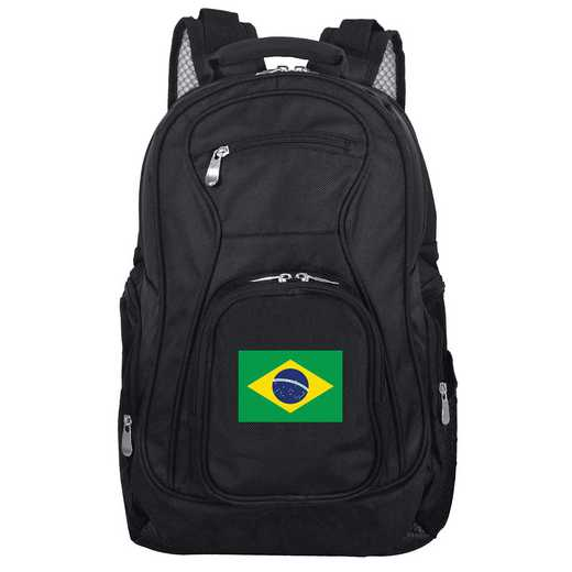 FLBRL704: Brazil Flag Backpack Black