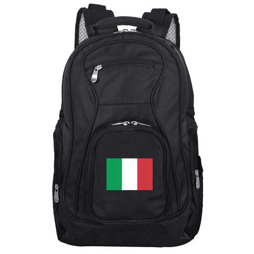 FLITL704: Italy Flag Backpack Black