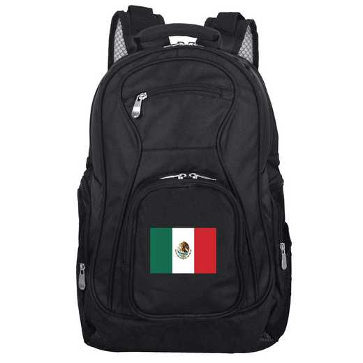 FLMEL704: Mexico Flag Backpack Black