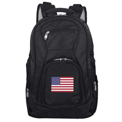 FLUSL704: American Flag Backpack Black