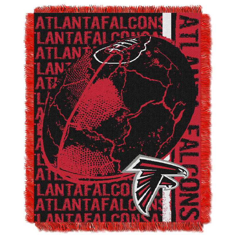 1NFL019030012RET: NFL Double Play Jacquard Throw, Falcons