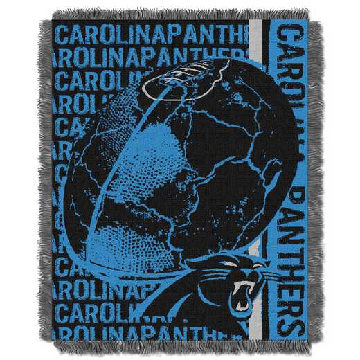 1NFL019030018RET: NFL Double Play Jacquard Throw, Panthers