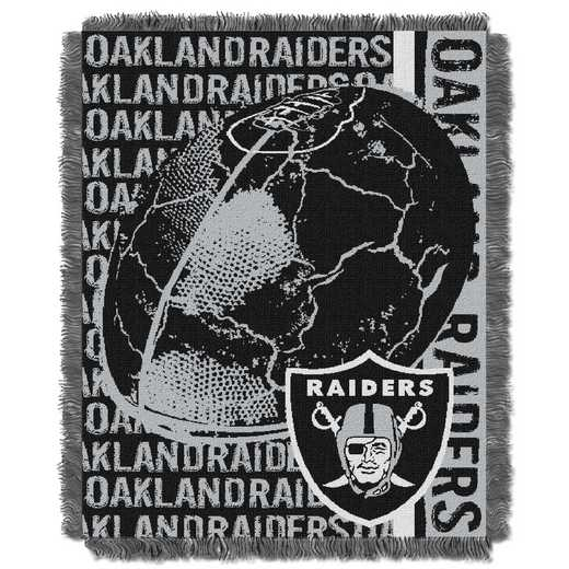 1NFL019030019RET: NFL Double Play Jacquard Throw, Raiders