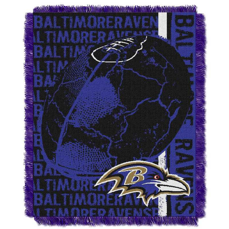 1NFL019030077RET: NFL Double Play Jacquard Throw, Ravens