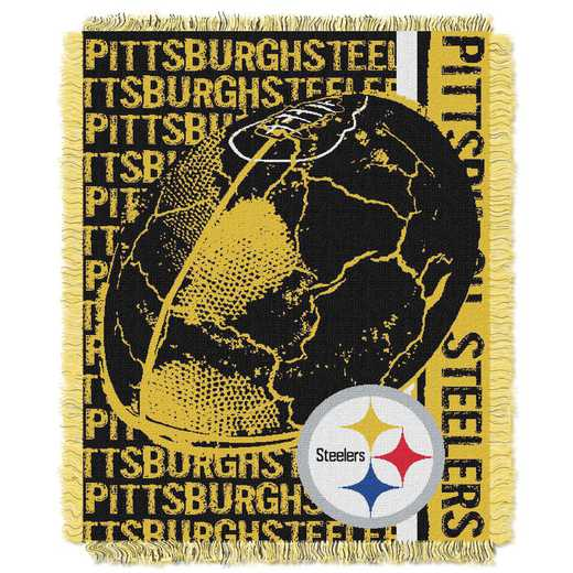 1NFL019030078RET: NFL Double Play Jacquard Throw, Steelers