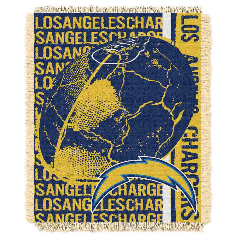 1NFL019030079RET: NFL Double Play Jacquard Throw, Chargers