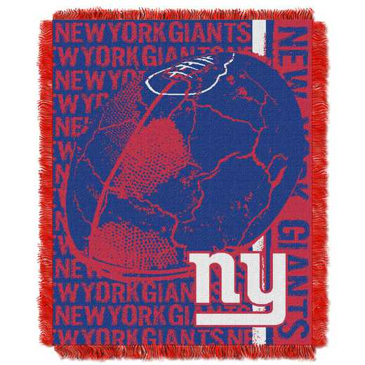 1NFL019030081RET: NFL Double Play Jacquard Throw, NY Giants