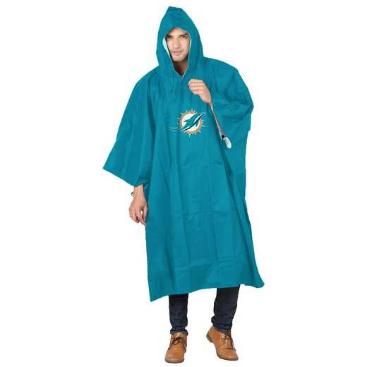 C11NFL47C340010RTL: NFL Dolphins Deluxe Poncho