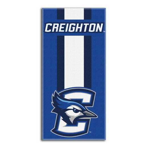 1COL620000100RET: NW NCAA ZONE READ BEACH TOWEL, CREIGHTON