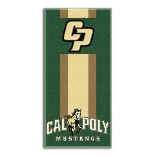 1COL620000206RET: NW NCAA ZONE READ BEACH TOWEL, CAL POLY