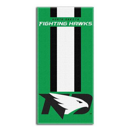 1COL620000255RET: NW NCAA ZONE READ BEACH TOWEL, N DAKOTA