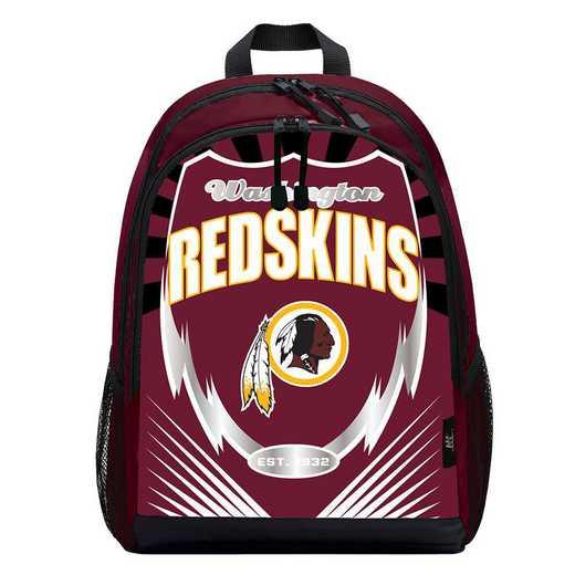C11NFL9C6636020RTL: NFL 9C6 Redskins Lightning Backpack