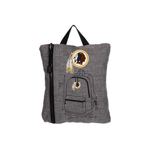 C11NFLSC8020020RTL: NFL SC8 Redskins Tandem Backpack Heathered Grey