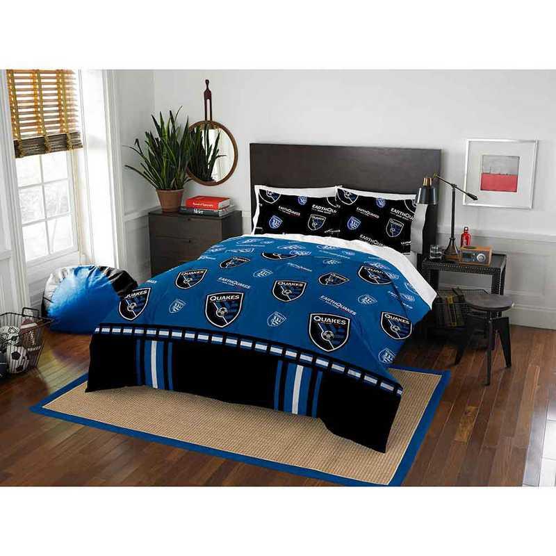1MLS849000005RET: MLS 849 San Jose Earthquakes Track Full/Queen Comforter Set