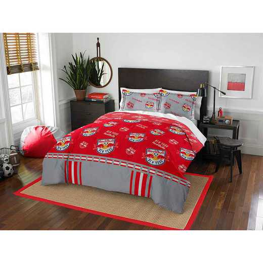 1MLS849000015RET: MLS 849 NY Red Bulls Track Full/Queen Comforter Set