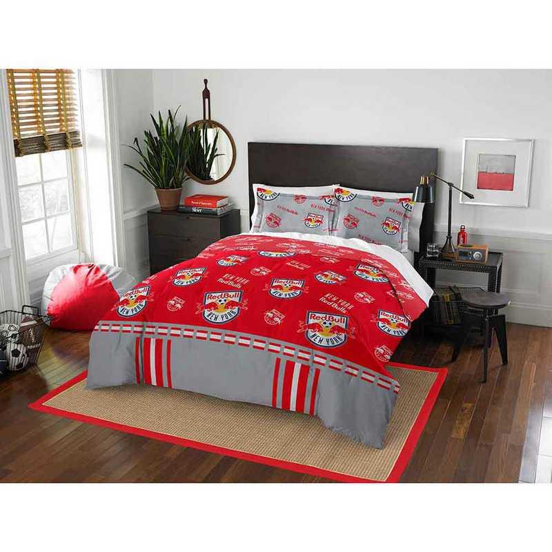 1MLS849000015RET: MLS 849 NY Red Bulls Track Full/Queen Comforter Set
