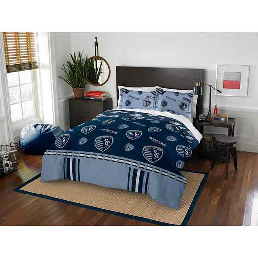 1MLS849000019RET: MLS 849 Sporting KC Track Full/Queen Comforter Set
