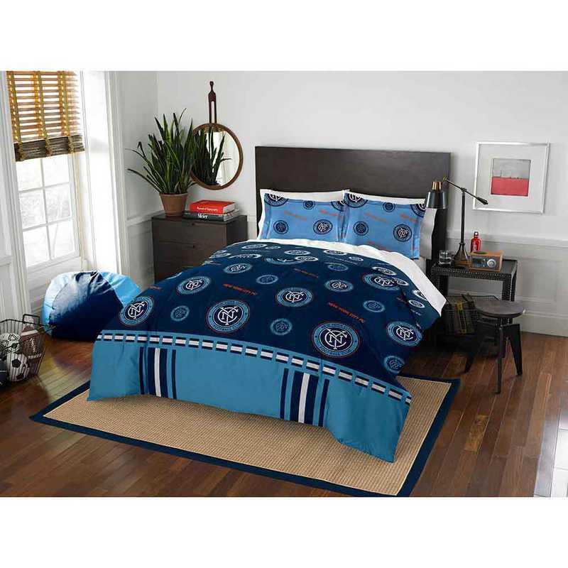 1MLS849000021RET: MLS 849 NYC Football Club Track Full/Queen Comforter Set