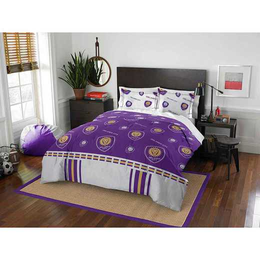 1MLS849000023RET: MLS 849 Orlando City FC Track Full/Queen Comforter Set