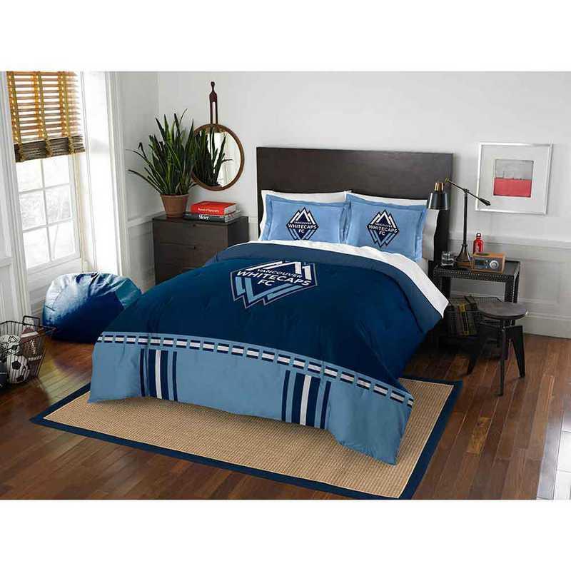 1MLS849000024RET: MLS 849 Vancouver Whitecaps Track Full/Queen Comforter Set