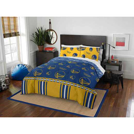 1NBA864001009EDC: NBA 864 Warriors Full Bed in a Bag Set