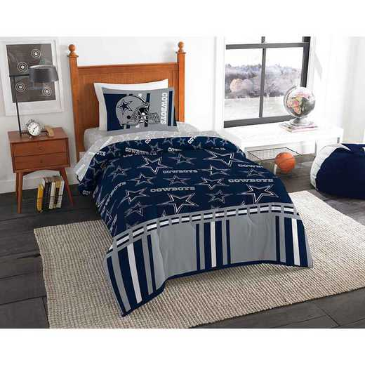 1NFL808001009EDC: NFL 808 Dallas Cowboys Twin Bed In a Bag Set