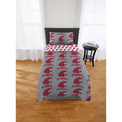 1COL808000017EDC: COL 808 Washington State Cougars Twin Bed In a Bag Set