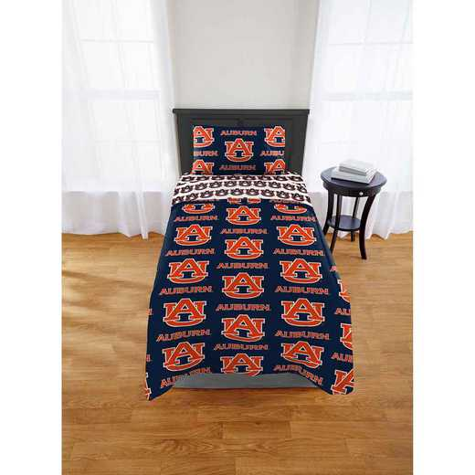 1COL808000022EDC: COL 808 Auburn Tigers Twin Bed In a Bag Set
