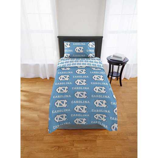 1COL808000023EDC: COL 808 UNC Tar Heels Twin Bed In a Bag Set