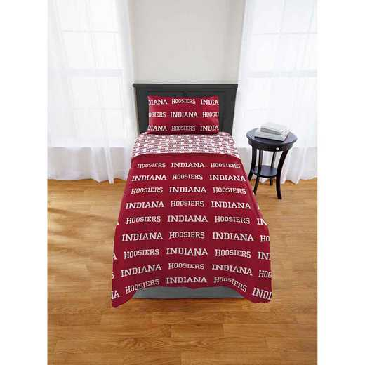 1COL808000026EDC: COL 808 Indiana Hoosiers Twin Bed In a Bag Set