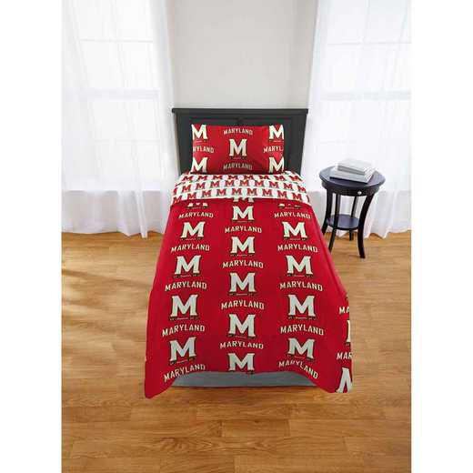1COL808000027EDC: COL 808 Maryland Terrapins Twin Bed In a Bag Set