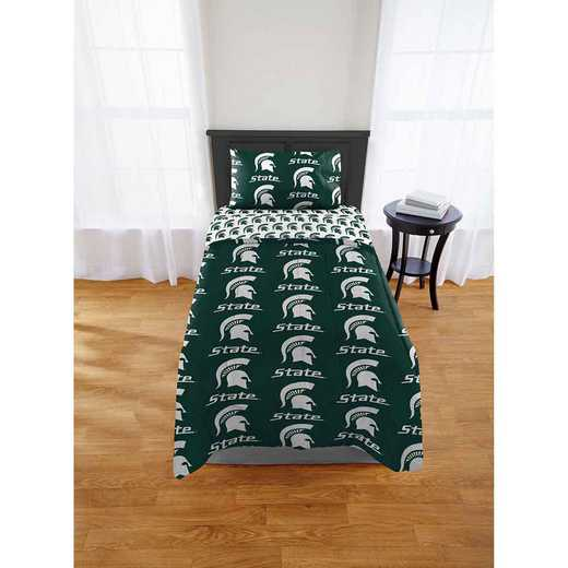 1COL808000031EDC: COL 808 Michigan State Spartans Twin Bed In a Bag Set