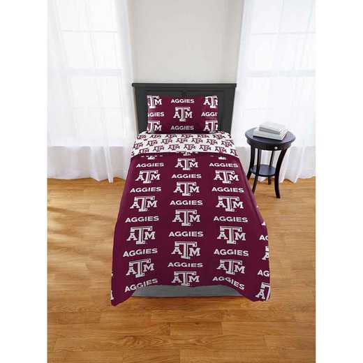 1COL808000034EDC: COL 808 Texas A&M Aggies Twin Bed In a Bag Set