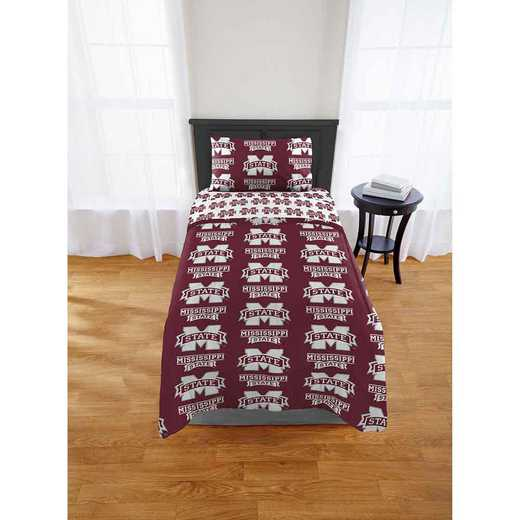 1COL808000056EDC: COL 808 Mississippi State Bulldogs Twin Bed In a Bag Set