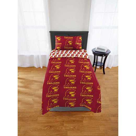 1COL808000068EDC: COL 808 Southern Cal Trojans Twin Bed In a Bag Set