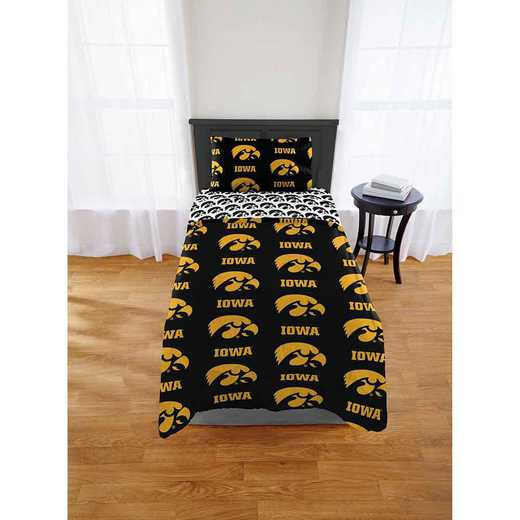 1COL863000002EDC: COL 863 Iowa Hawkeyes Twin/XL Bed In a Bag Set