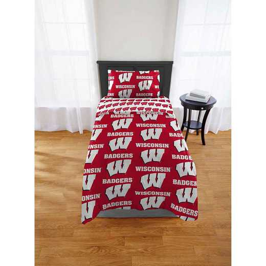 1COL863000003EDC: COL 863 Wisconsin Badgers Twin/XL Bed In a Bag Set