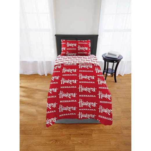 1COL863000006EDC: COL 863 Nebraska Cornhuskers Twin/XL Bed In a Bag Set