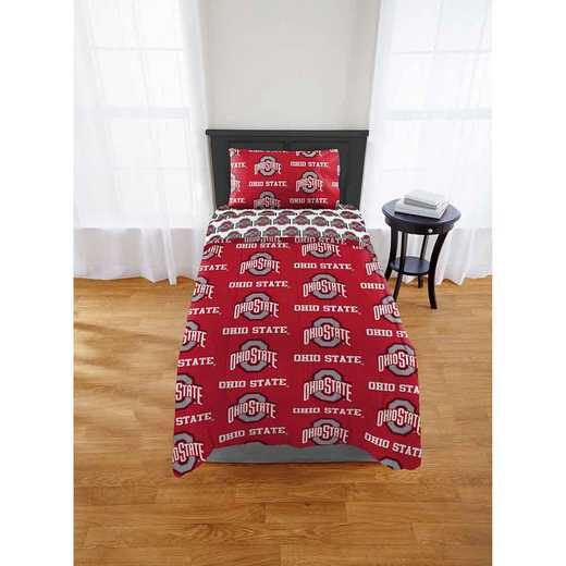 1COL863000007EDC: COL 863 Ohio State University Buckeyes Twin/XL Bed In a Bag Set