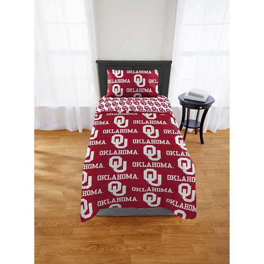 1COL863000012EDC: COL 863 Oklahoma Sooners Twin/XL Bed In a Bag Set