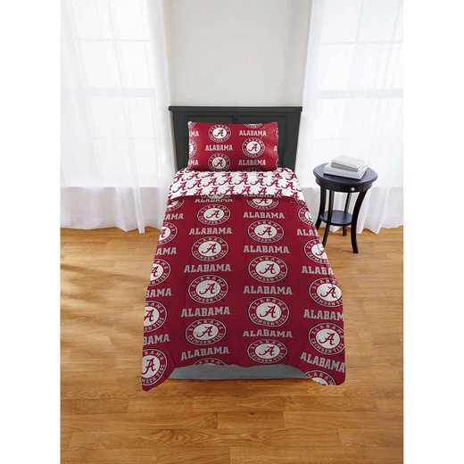 1COL863000018EDC: COL 863 Alabama Crimson Tide Twin/XL Bed In a Bag Set