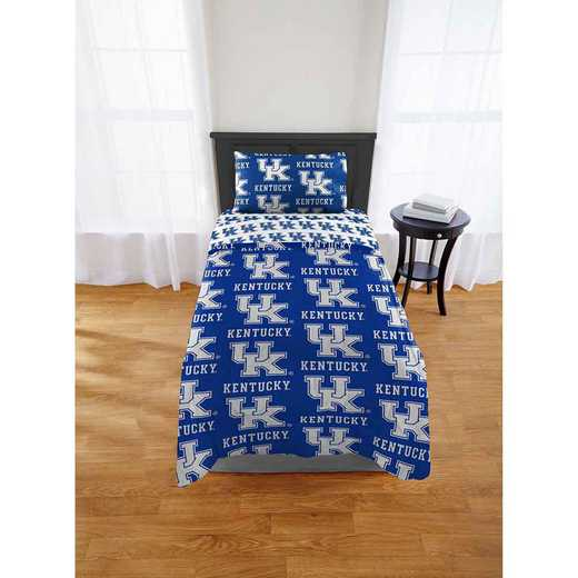 1COL863000020EDC: COL 863 Kentucky Wildcats Twin/XL Bed In a Bag Set