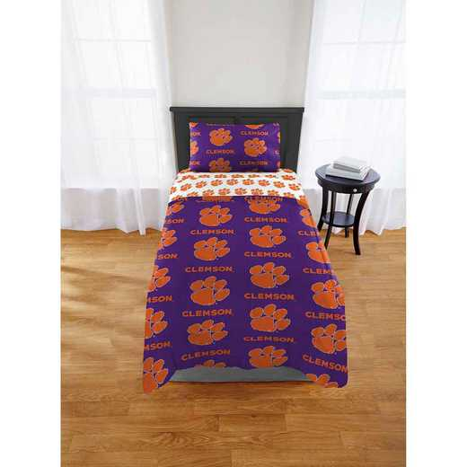 1COL863000033EDC: COL 863 Clemson Tigers Twin/XL Bed In a Bag Set