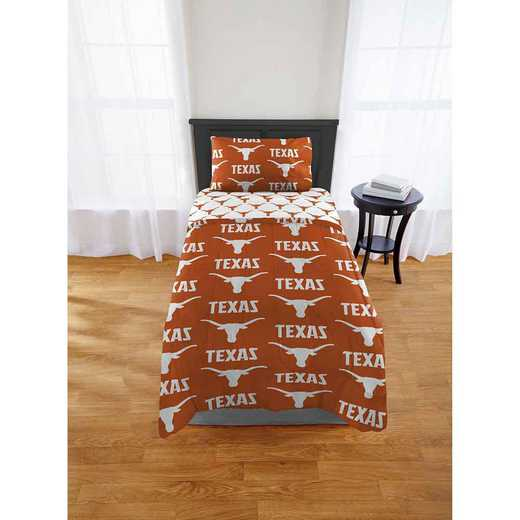 1COL863000036EDC: COL 863 Texas Longhorns Twin/XL Bed In a Bag Set