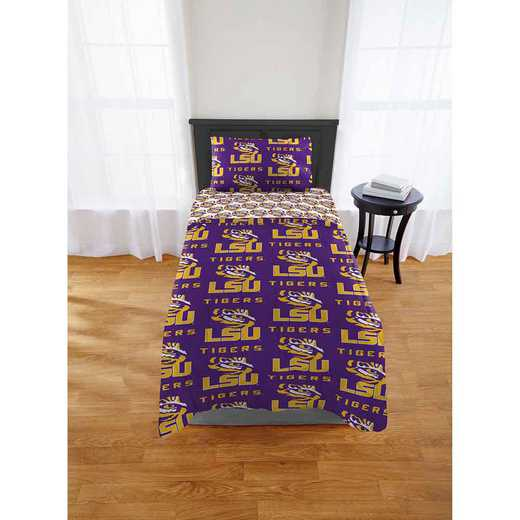 1COL863000046EDC: COL 863 LSU Tigers Twin/XL Bed In a Bag Set