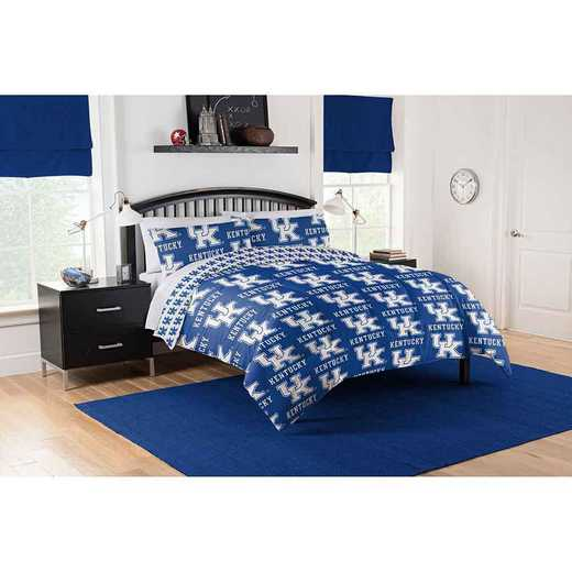 1COL864000020EDC: COL 864 Kentucky Wildcats Full Bed In a Bag Set