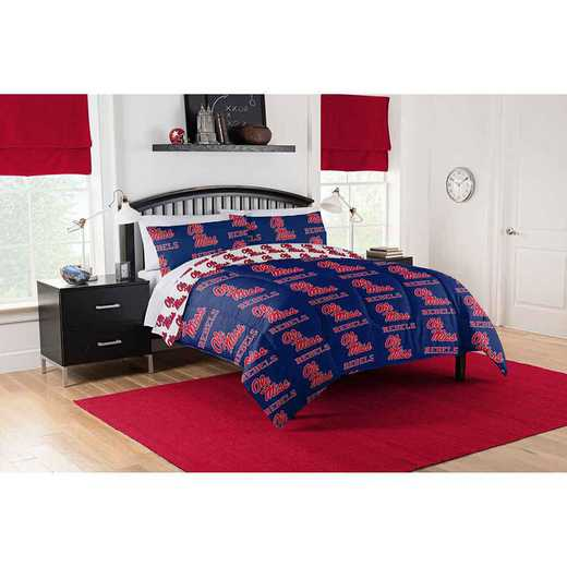 1COL864000054EDC: COL 864 Mississippi Ole Miss Full Bed In a Bag Set