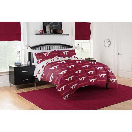 1COL864000075EDC: COL 864 Virginia Tech Hokies Full Bed In a Bag Set